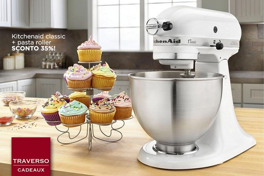 Kitchenaid white mixer promozione traverso cadeaux genova articoli da regalo lista nozze