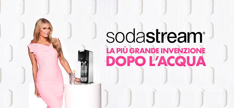 sodastream traverso cadeaux genova promozione offerta paris hilton